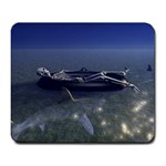 Skeleton Castaway and Shark Fantasy Large Mousepad