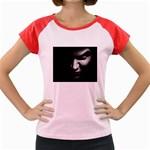 Vampire Fantasy in Black and White Women s Cap Sleeve T-Shirt