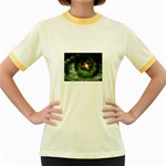 The Eye Sees All Women s Fitted Ringer T-Shirt
