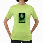 Demon Out of the Water Women s Green T-Shirt