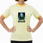 Demon Out of the Water Women s Fitted Ringer T-Shirt