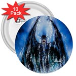 Demon Out of the Water 3  Button (10 pack)