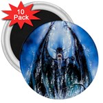 Demon Out of the Water 3  Magnet (10 pack)