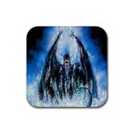 Demon Out of the Water Rubber Square Coaster (4 pack)