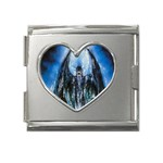 Demon Out of the Water Mega Link Heart Italian Charm (18mm)