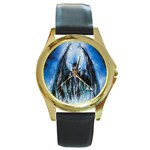 Demon Out of the Water Round Gold Metal Watch