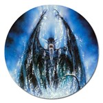 Demon Out of the Water Magnet 5  (Round)