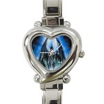 Demon Out of the Water Heart Italian Charm Watch
