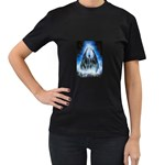 Demon Out of the Water Women s Black T-Shirt