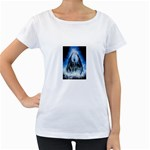 Demon Out of the Water Maternity White T-Shirt