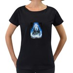 Demon Out of the Water Maternity Black T-Shirt