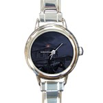Demon Horseman at Night Round Italian Charm Watch
