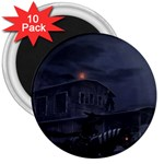 Demon Horseman at Night 3  Magnet (10 pack)