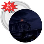 Demon Horseman at Night 3  Button (100 pack)