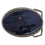 Demon Horseman at Night Belt Buckle