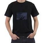 Demon Horseman at Night Black T-Shirt