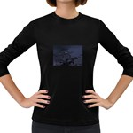 Demon Horseman at Night Women s Long Sleeve Dark T-Shirt