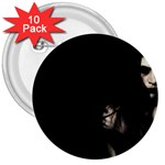 Bleeding Heart of a Woman 3  Button (10 pack)