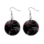 American Gothic Vampire 1  Button Earrings