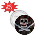 Pirate Flag Skull and Treasure Map 1.75  Button (100 pack)