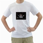 Pirate Flag Skull and Treasure Map White T-Shirt