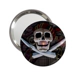 Pirate Flag Skull and Treasure Map 2.25  Handbag Mirror