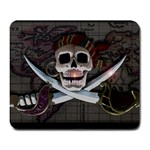 Pirate Flag Skull and Treasure Map Large Mousepad