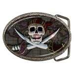 Pirate Flag Skull and Treasure Map Belt Buckle