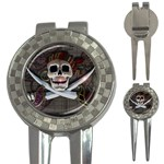 Pirate Flag Skull and Treasure Map 3-in-1 Golf Divot