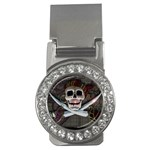 Pirate Flag Skull and Treasure Map Money Clip (CZ)