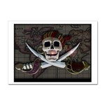 Pirate Flag Skull and Treasure Map Sticker (A4)