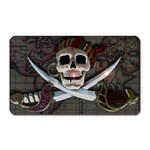 Pirate Flag Skull and Treasure Map Magnet (Rectangular)