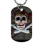 Pirate Flag Skull and Treasure Map Dog Tag (One Side)