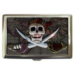 Pirate Flag Skull and Treasure Map Cigarette Money Case