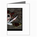 Pirate Flag Skull and Treasure Map Greeting Card