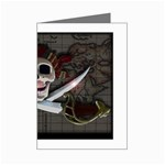Pirate Flag Skull and Treasure Map Mini Greeting Card