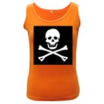 Classic Pirate Flag Skull and Bones Women s Dark Tank Top
