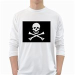 Classic Pirate Flag Skull and Bones Long Sleeve T-Shirt