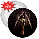Goth Angel 3  Button (10 pack)