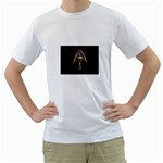 Goth Angel White T-Shirt