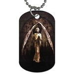 Goth Angel Dog Tag (Two Sides)