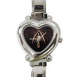 Goth Angel Heart Italian Charm Watch