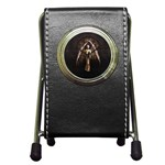 Goth Angel Pen Holder Desk Clock