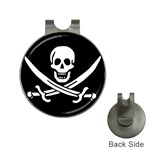 Pirate Flag Skull and Bones Golf Ball Marker Hat Clip