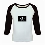 Pirate Flag Skull and Bones Kids Baseball Jersey