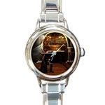 Joan of Arc Fantasy Round Italian Charm Watch