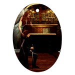 Joan of Arc Fantasy Ornament (Oval)