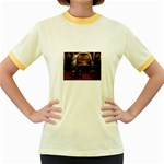 Joan of Arc Fantasy Women s Fitted Ringer T-Shirt