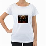 Joan of Arc Fantasy Maternity White T-Shirt