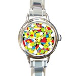 Interlocking Circles Round Italian Charm Watch